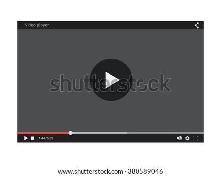 Video Player. Video Player mockup. Video Player for web site. Video Player skin. Video Player template of Video and audio Player. Video Player vector concept. Video Player for web and mobile apps - stock vector