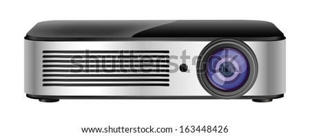 video projector - stock vector