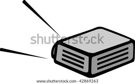 video projector view from behind - stock vector
