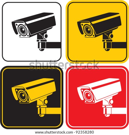 video surveillance camera sign. CCTV - stock vector