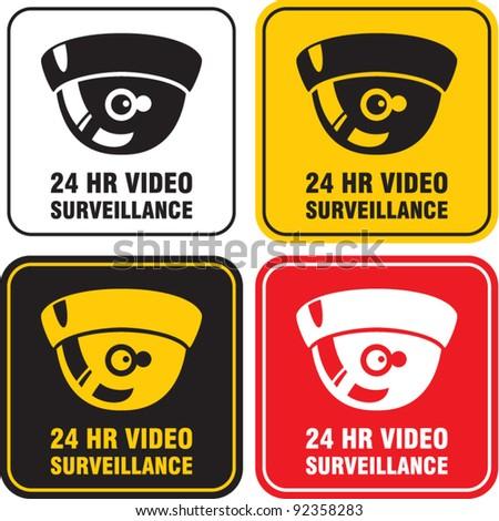 video surveillance camera sign. CCTV - stock vector