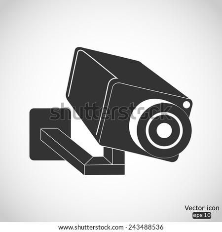 video surveillance camera vector icon - stock vector