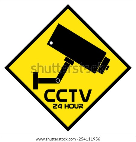 Video surveillance, CCTV, vector illustration - stock vector