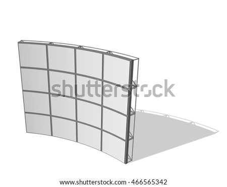 Video Wall. Isolated on white background. 3d Vector illustration.