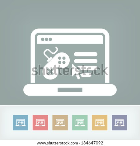 Videogame website icon - stock vector