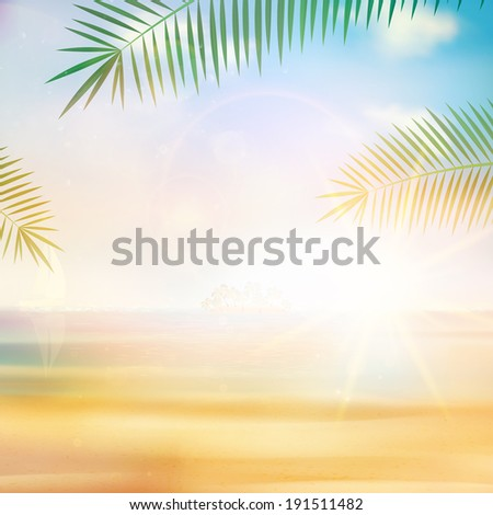 View of the sea in grunge and retro style. EPS10 - stock vector
