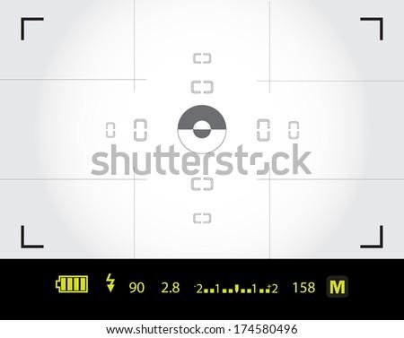 viewfinder - stock vector
