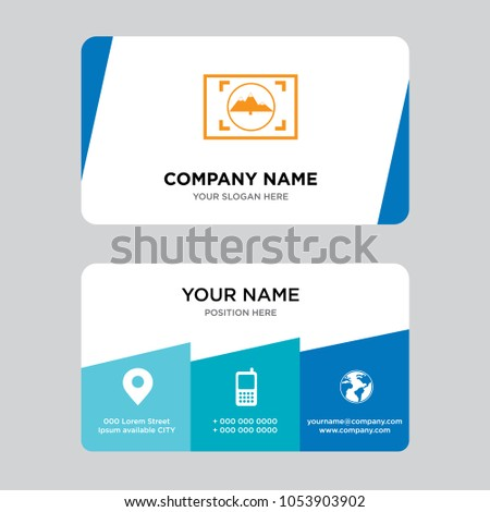 Viewfinder business card design template visiting stock vector viewfinder business card design template visiting for your company modern creative and clean identity colourmoves