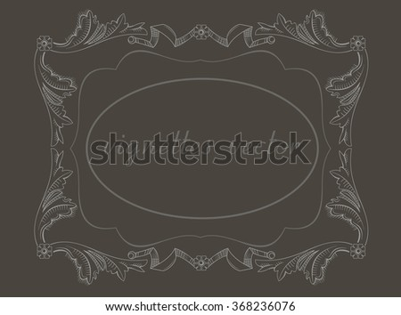 Vignettes in vector . Classical frames, vignettes in the art of engraving. - stock vector