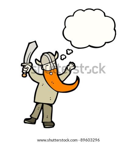 viking cartoon character - stock vector