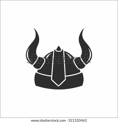 viking helmet - stock vector