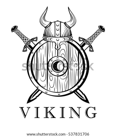 Viking Sword And Shield Tattoo