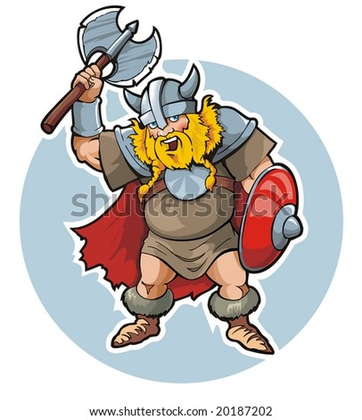 Viking, vector illustration - stock vector