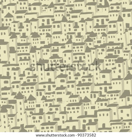 village seamless texture - stock vector