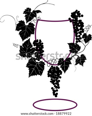 Vine composition - stock vector