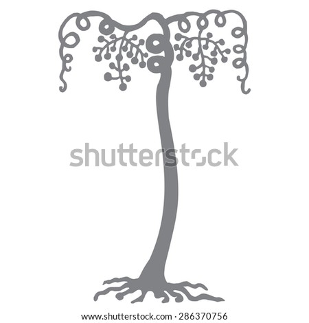 vine original drawing vector - stock vector