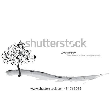 vine vector background - stock vector