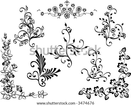 Vines Flowers Vector Vines And Flowers Design