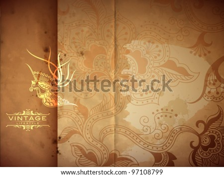 Vintage Abstract - stock vector