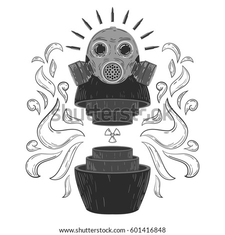 Vintage Abstract Form Russian Traditional Doll Stock Vector (2018 ...