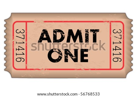 Vintage Admission Ticket - stock vector