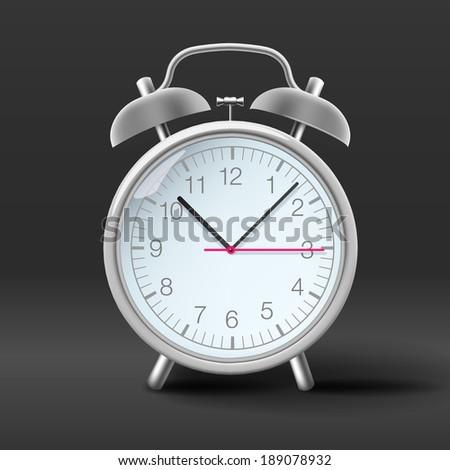 Vintage alarm clock, vector image.  - stock vector
