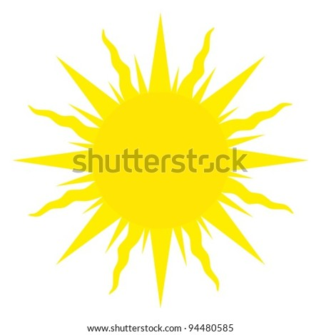 Vintage alchemical sun - stock vector