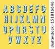 Vintage alphabet. Retro type font. 3d letters. Vintage letters for your design. Vector illustration EPS10 - stock vector