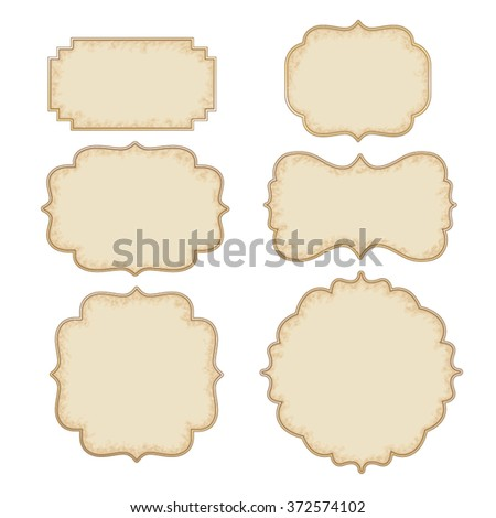 Vintage And Retro Design Elements, old papers, labels  - stock vector