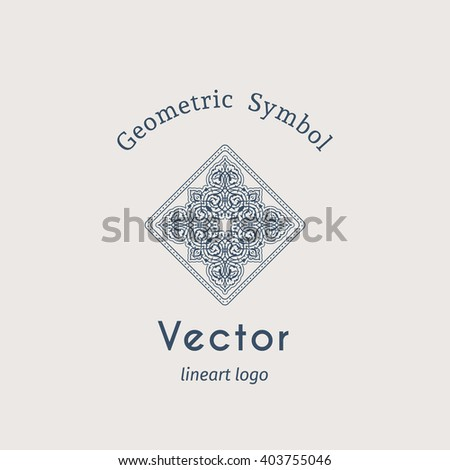 Vintage arabic ornament. Vector emblem for luxury logos and retro ornamental design. - stock vector