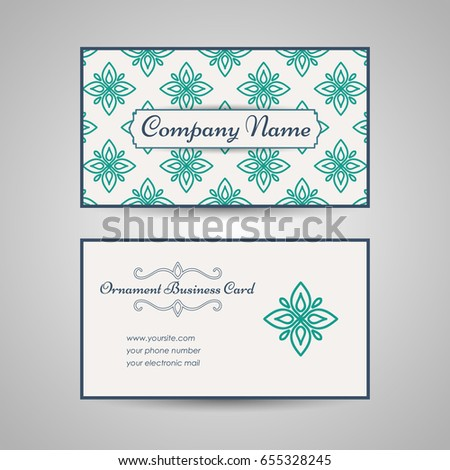 Vintage arabic style business card template stock vector royalty vintage arabic style business card template vector illustration colourmoves