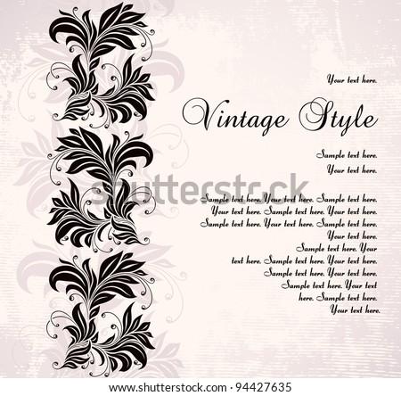 vintage background - stock vector