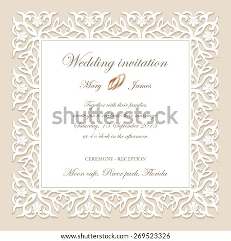 Vintage background baroque pattern for wedding card or invitation