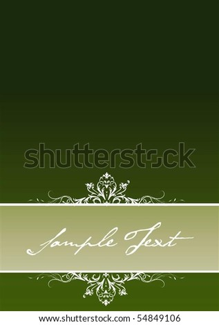 Vintage background concept in editable vector format - stock vector