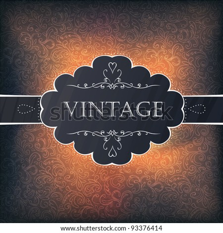 Vintage background design for greeting card. Vector illustration, EPS10 - stock vector