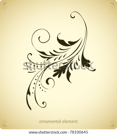 Vintage background element - stock vector