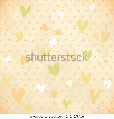 Vintage background. Heritage texture. Retro seamless pattern - stock vector