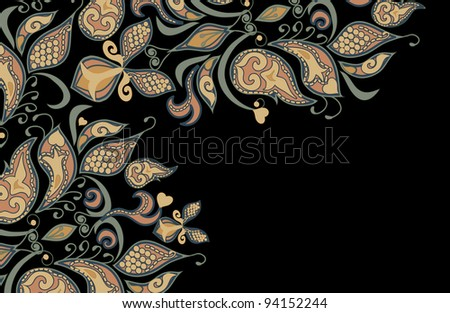 vintage background of ethnic vector patterns - stock vector