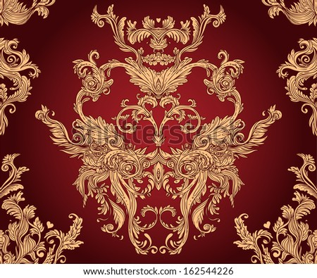 Vintage background ornate baroque pattern  - stock vector