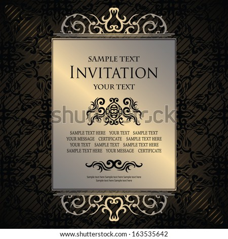 Vintage background with a luxury frame. Original design                  - stock vector