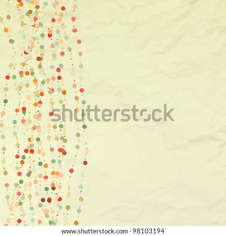 Vintage background with dots. And also includes EPS 8 vector - stock vector