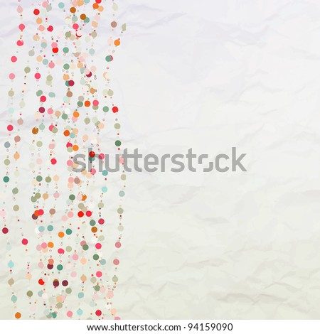 Vintage background with dots. EPS 8 vector file included - stock vector