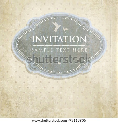 Vintage background with label. - stock vector