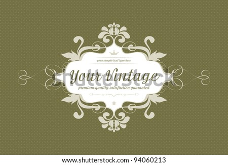 Vintage background with ornaments