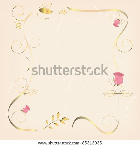 vintage background with roses - stock vector