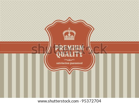 vintage background with shield element - stock vector