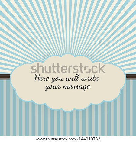 Vintage background with sunbeams, vector illustration for your business - stock vector