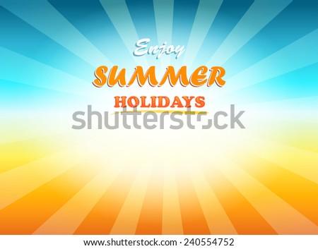 Vintage Background with Sunrise Shining - stock vector