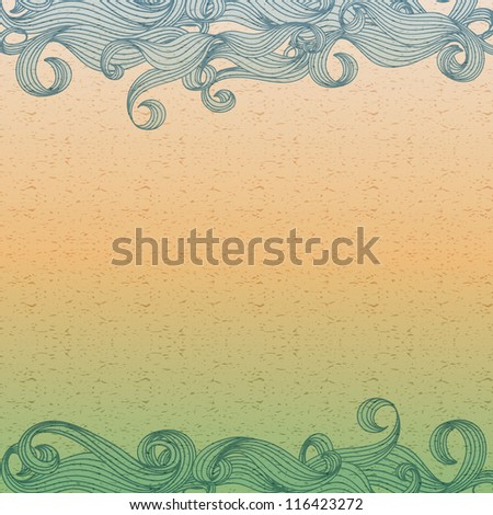 vintage background with waves