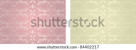 vintage backgrounds with floral ornament. Design vector - stock vector